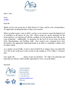 ARIA Apology Letter