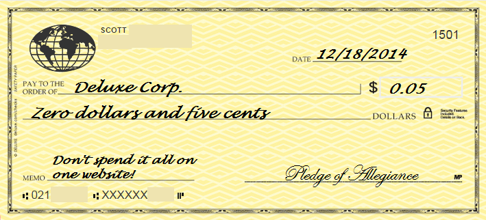 My Final Check Design
