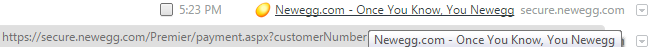 Newegg Premiere payment timestamp