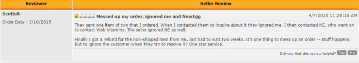 Newegg - Web Vitamins, Inc Review
