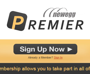 Newegg - Premier signin