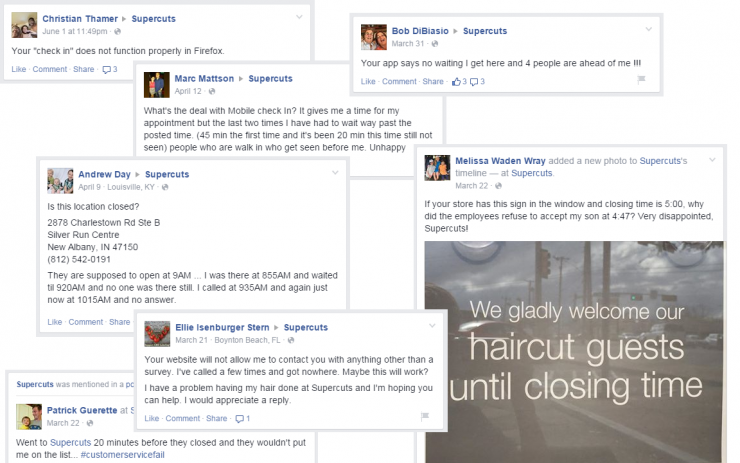 Various Supercuts Complaints